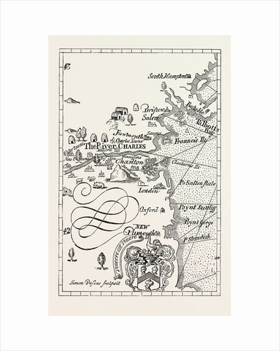 Part of Captain J. Smith's Map of New England by Anonymous