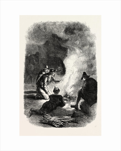 Pilgrim Fathers Round a Watch-Fire by Anonymous