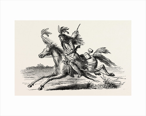 North American Indian on Horseback by Anonymous