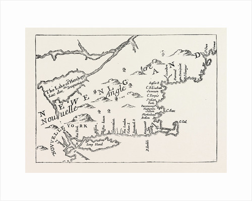 New England in 1684, United States of America, from a Map Engraved by Michault by Anonymous