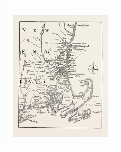 Map of New England at the Beginning of the Eighteenth Century from Mather's Magnalia by Anonymous