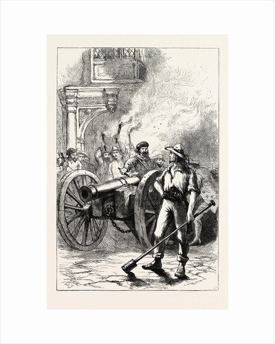 The Mob Firing Cannon Before the Court House Where M'Leod Was Imprisoned by Anonymous