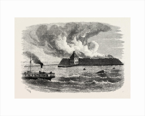 Destruction of Fort Ocracoke by Anonymous