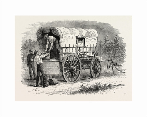 United States Military Telegraph Waggon, American Civil War by Anonymous