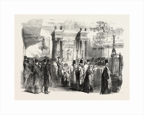 Consecration of the Western Synagogue, St. Albans-Place, St. James's by Anonymous