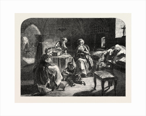 Exhibition of the Royal Academy, the Royal Family of France in the Prison of the Temple by Anonymous