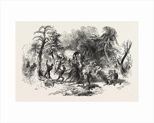 Attack on Colonists' Waggon, by Kaffirs, South Africa by Anonymous
