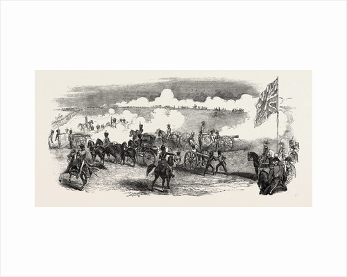 British Royal Horse Artillery, Battery in Action by Anonymous