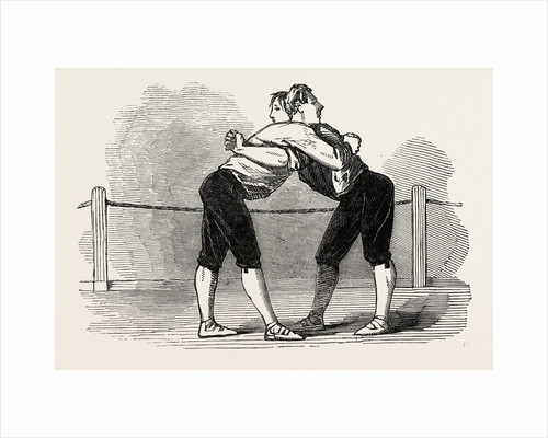 Old English Sports at Saville House, Leicester Square, London: Westmoreland Wrestling the Hold by Anonymous