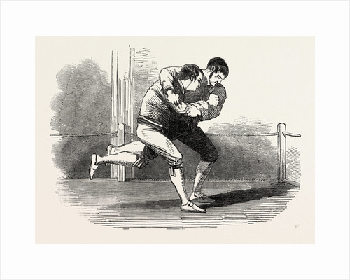 Old English Sports at Saville House, Leicester Square, London: Cornish Wrestling by Anonymous