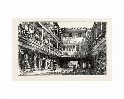 The Four Swans Inn, Bishopsgate Street, Sketched During the Recent Demolition, London by Anonymous