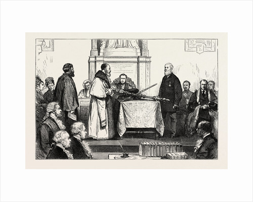Presentation of the Freedom of the City to Sir Albert D. Sassoon, K.S.I.: The Ceremony at the Guildhall, London by Anonymous