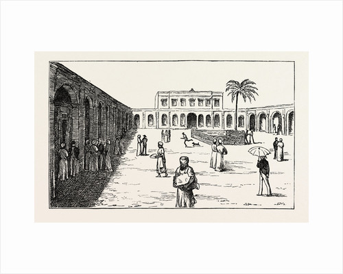 The New Exchange Minet El Basel, Arab Merchants Selling Their Cotton Crops, Egypt by Anonymous