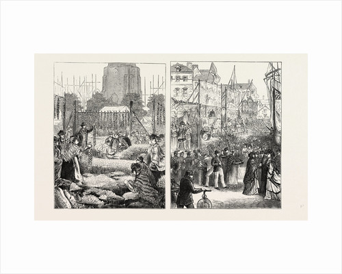 Onion Fair at Birmingham (Left Image); Goose Fair at Nottingham (Right Image) by Anonymous