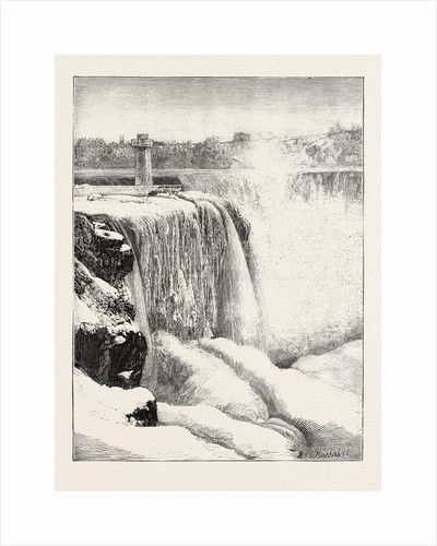 The Niagara Falls in Winter Time: Horse-Shoe Fall and Profile Rock by Anonymous