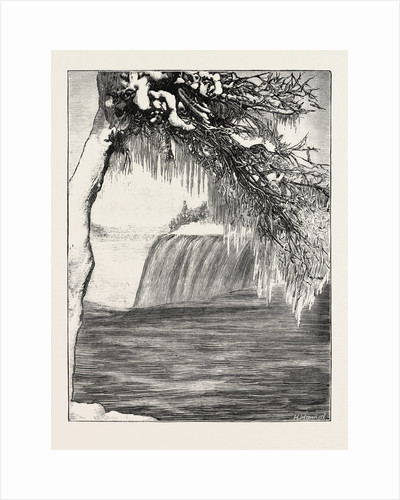 The Niagara Falls in Winter Time: American Fall from Luna Island by Anonymous