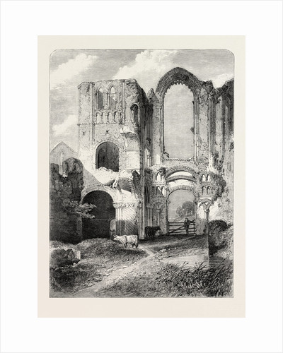Ruins of Castle Acre Priory, Norfolk. From the Royal Academy Exhibition by Anonymous