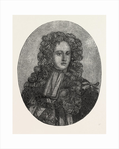 Portrait of Prince George of Denmark Composed Entirely of Minute Writing by Anonymous