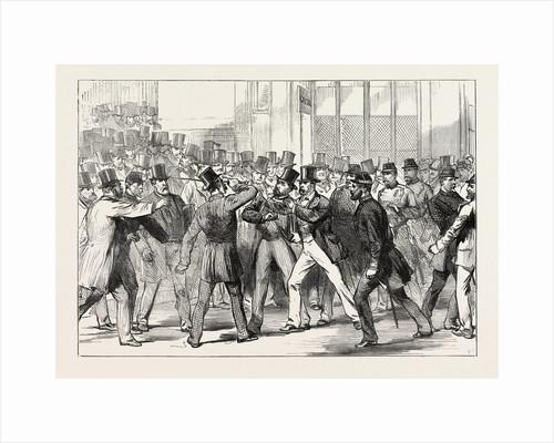 The Assault on M. Gambetta by M. De Sainte-Croix at the Sainte Lazare Station, Paris, France by Anonymous