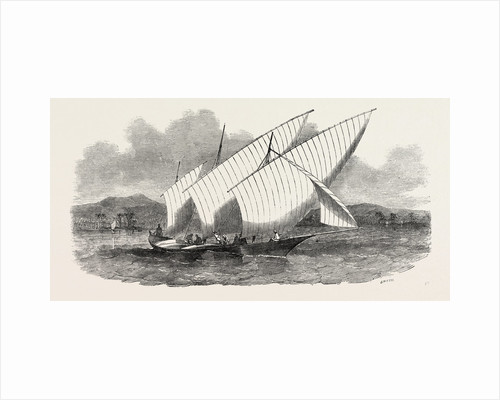 Pleasure-Boat of the Rajah of Johore by Anonymous