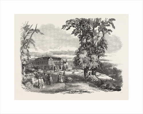 Anniversary Fete of the Morfe Cottage Garden Society, at Dudmaston, Near Bridgnorth, Salop, the Mansion and Part of Flower-Garden by Anonymous