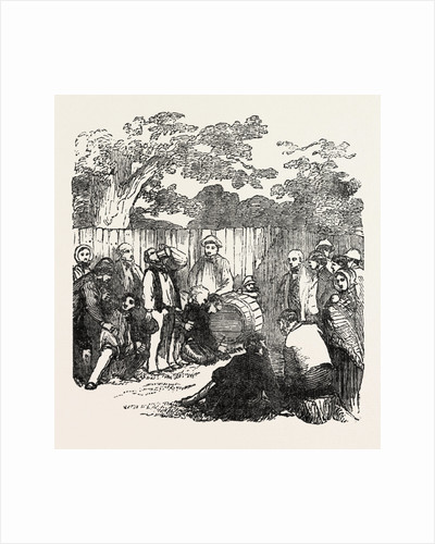 Drinking the Barrel of Beer at Rickmansworth, Hertfordshire by Anonymous