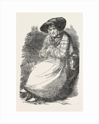 Mary Callinack, Aged 85, the Cornish Fish-Woman, Who Walked from Penzance to the Great Exhibition, in Hyde Park, London by Anonymous