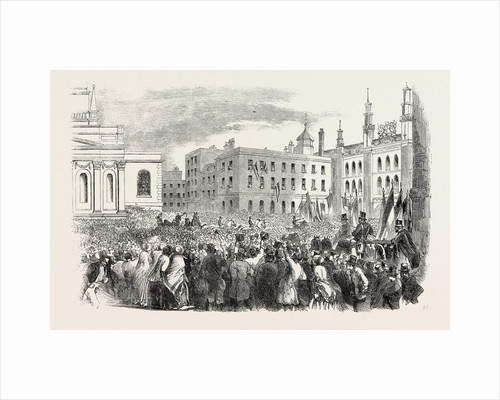 Arrival of M. Kossuth in Guildhall Yard, London by Anonymous