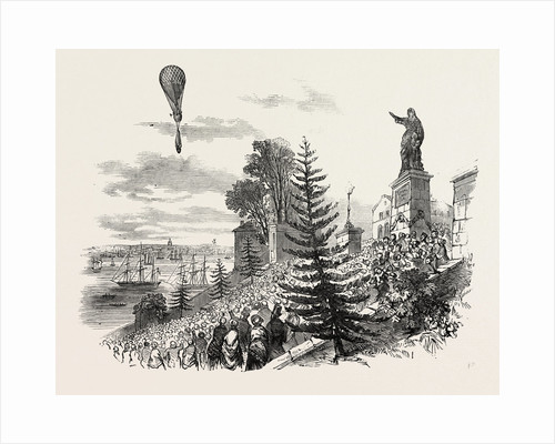 Ascent of M. Poitevin's Balloon from Nantes, France by Anonymous