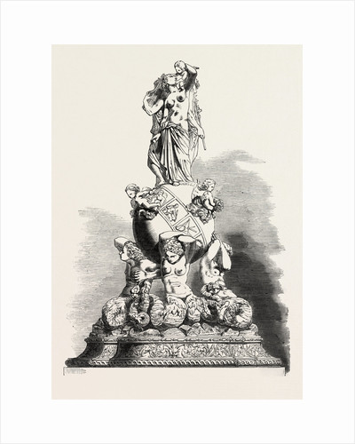 The Great Exhibition: Centre-Piece (the Seasons), in Oxydised Silver by Anonymous