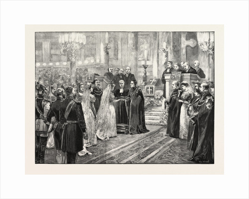 The Royal Marriage at Berlin, Germany: Wedding Ceremony in the Chapel of the Royal Palace by Anonymous