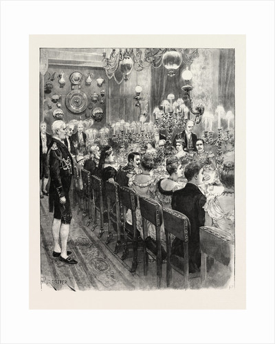 The Royal Marriage at Berlin, Germany: Banquet at the Royal Palace by Anonymous