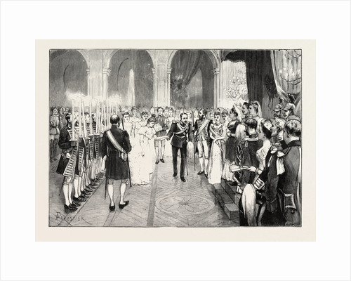 The Royal Marriage at Berlin, Germany: Torch-Dance at the Royal Palace by Anonymous