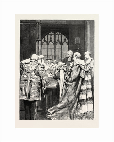 His Royal Highness the Duke of York Signing the Roll on Taking His Seat in the House of Lords, UK by Anonymous