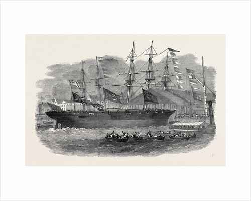 Launch of a War-Steamer at Limehouse Dockyard. by Anonymous