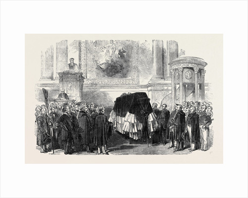 Funeral of the Late Sir Edward Parry, in the Chapel of Greenwich Hospital by Anonymous