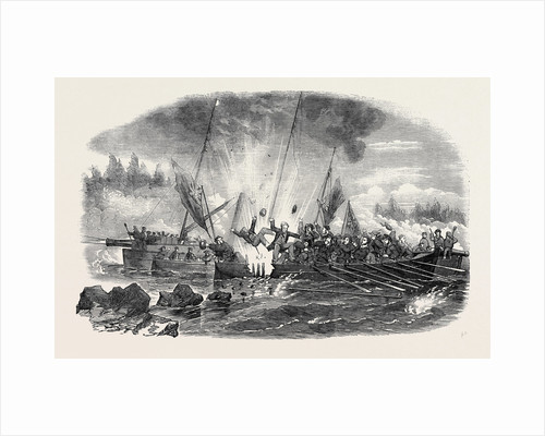 Boats Reconnoitring the Passage to Wyborg. by Anonymous