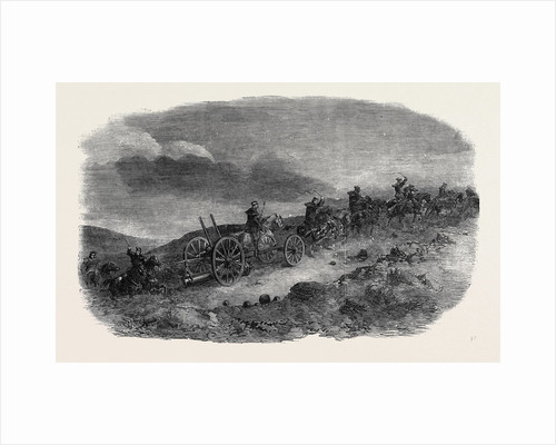 Before Sebastopol, Artillery Taking Lancaster Guns Down to the First Parallel by Night; Crimean War by Anonymous