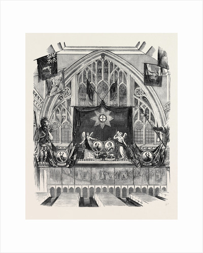 Decoration of Guildhall on Lord Mayor's Day, West End. by Anonymous