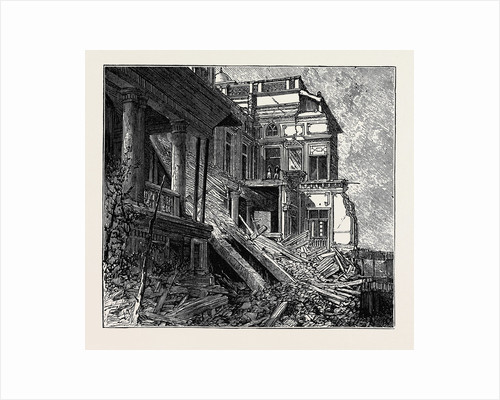 Ruined Bungalow at Bombay, Scene of the Fatal Accident to the Hon. Narayen Vasudeo, India by Anonymous