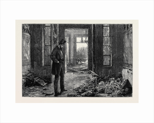 After the Explosion, Wreck of a Collection of Bas Reliefs, China, Carvings, Etc., in Mr. Gerstenberg's House by Anonymous