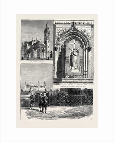 Scene of the Cawnpore Massacre of 1857, Memorial Building and Gardens, the Memorial Church, Marochetti's Monument Over the Well by Anonymous