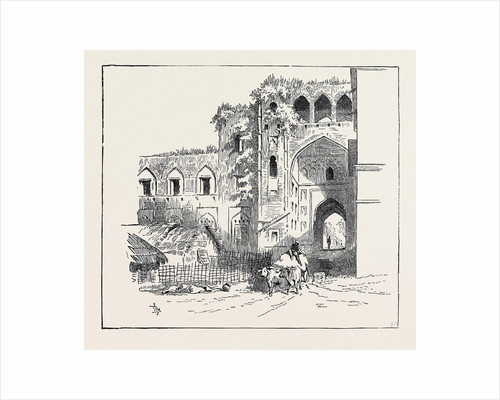 Sketches of Ancient Buildings at Dacca, Bengal: Ruined Gateway of the Ancient Fort by Anonymous