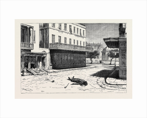 Deserted: Corner of the Rue Des Soeurs, Alexandria, after the Massacre of June 11, Egypt by Anonymous