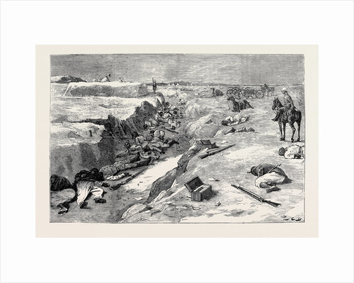 The War in Egypt, The Storming of Tel-El-Kebir, September 13: Cold Steel, a Trench at Tel-El-Kebir: In the Grand Redoubt after the Assault by General Alison's Brigade by Anonymous