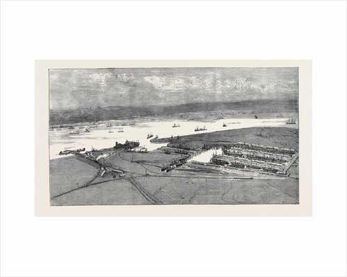 Bird's-Eye View of the East and West India Dock Extension, Tilbury by Anonymous