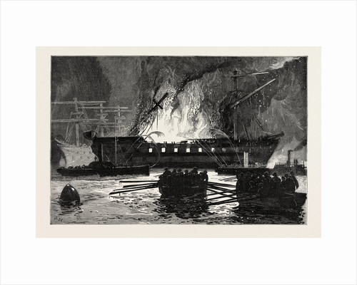 The Burning of the Roman Catholic Reformatory Ship Clarence on the Mersey by Anonymous