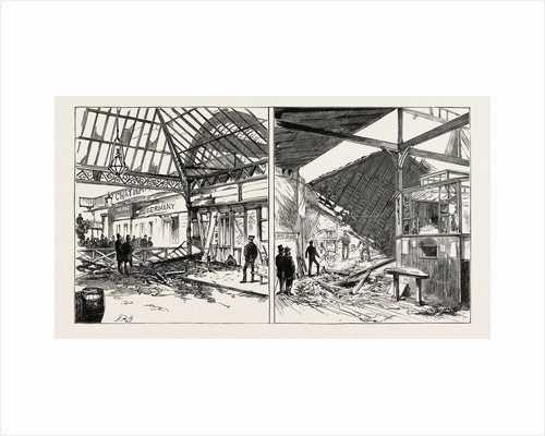 The Disastrous Explosion at Victoria Station London: Exterior View Showing the Damage to the Station of the Brighton Line (Left Image) the Wrecked Cloak Room Seen from the Booking-Office (Right Image) by Anonymous