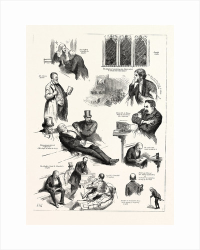 Character Sketches in the House of Commons During the Debate on the Vote of Censure London by Anonymous