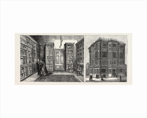 The Royal College of Music South Kensington: The Library of Musical Works (Left Image) Exterior of the Building (Right Image) London by Anonymous
